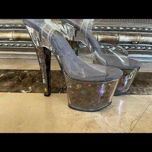 New Hologram Pleaser Heels Size 7